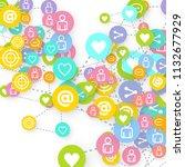 social media marketing ... | Shutterstock .eps vector #1132677929