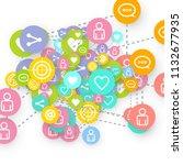social media marketing ... | Shutterstock .eps vector #1132677935