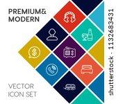 modern  simple vector icon set... | Shutterstock .eps vector #1132683431