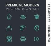 modern  simple vector icon set... | Shutterstock .eps vector #1132684535