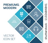 modern  simple vector icon set... | Shutterstock .eps vector #1132684841