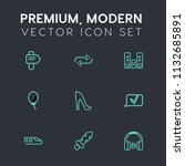 modern  simple vector icon set... | Shutterstock .eps vector #1132685891