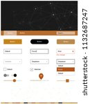 light orange vector wireframe...