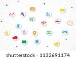 technology icon   abstract...   Shutterstock .eps vector #1132691174