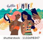 vector summer holiday... | Shutterstock .eps vector #1132698347