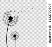 silhouette dandelion isolated... | Shutterstock .eps vector #1132700804
