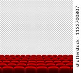 red cinema movie theater seats... | Shutterstock .eps vector #1132700807