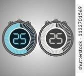 electronic digital stopwatch.... | Shutterstock .eps vector #1132701569