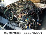 a large tangle of ravel... | Shutterstock . vector #1132702001