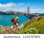 couple looking at beautiful... | Shutterstock . vector #1132707851
