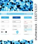light blue vector web ui kit in ...