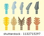 vector icon guitar headstocks | Shutterstock .eps vector #1132715297