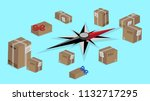 worldwide delivery shipping... | Shutterstock .eps vector #1132717295