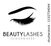 lash logo  luxury beauty eye... | Shutterstock .eps vector #1132734044