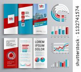 business brochure template... | Shutterstock .eps vector #1132741574