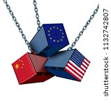 chinese european and american... | Shutterstock . vector #1132742807
