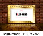 bright gold marquee with light... | Shutterstock .eps vector #1132757564