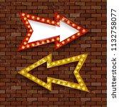 light billboard with arrow.... | Shutterstock .eps vector #1132758077