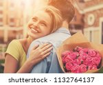 beautiful young couple on... | Shutterstock . vector #1132764137