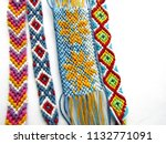 bracelet woven thread colorful... | Shutterstock . vector #1132771091