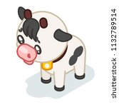 cow cub isometric cute 3d beef... | Shutterstock .eps vector #1132789514