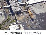 Construction of Sky Train near Terminal 3 at Sky Harbor - stock photo