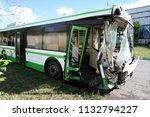 broken in an accident the bus... | Shutterstock . vector #1132794227