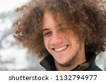 portrait of a happy teenager... | Shutterstock . vector #1132794977