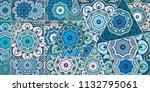 vector patchwork quilt pattern. ...   Shutterstock .eps vector #1132795061
