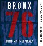 college typography new york tee | Shutterstock .eps vector #1132797827