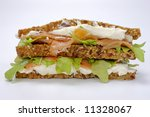 Sandwich against white background - stock photo