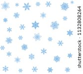 snowflakes winter background... | Shutterstock .eps vector #1132808264
