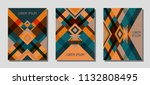 set of cover page layouts ... | Shutterstock .eps vector #1132808495