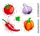 Set Of Fresh Organic Vegetable...