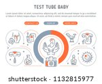line banner of test tube baby.... | Shutterstock .eps vector #1132815977
