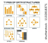 vector icon structure of data.... | Shutterstock .eps vector #1132818371