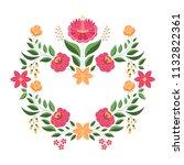 hungarian folk pattern vector... | Shutterstock .eps vector #1132822361