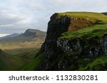 green mountains of quiraing  on ... | Shutterstock . vector #1132830281