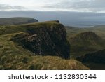 green mountains of quiraing  on ... | Shutterstock . vector #1132830344