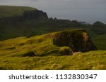 green mountains of quiraing  on ... | Shutterstock . vector #1132830347