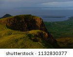 green mountains of quiraing  on ... | Shutterstock . vector #1132830377