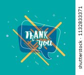 thank you card. banner with... | Shutterstock .eps vector #1132833371