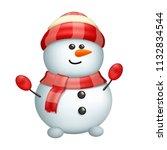 snowman isolated on white | Shutterstock .eps vector #1132834544