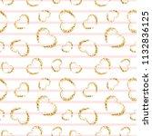 gold heart seamless pattern.... | Shutterstock .eps vector #1132836125
