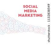 social media icons. social... | Shutterstock .eps vector #1132838549