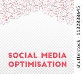 social media icons. social... | Shutterstock .eps vector #1132838645
