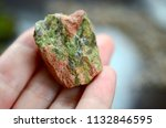 rough unakite. crystals for... | Shutterstock . vector #1132846595