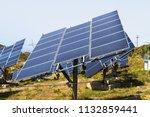 field of solar panel energy...   Shutterstock . vector #1132859441