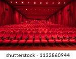 empty red cinema hall seats ... | Shutterstock . vector #1132860944