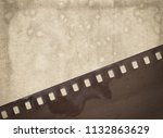vintage background with aged...   Shutterstock . vector #1132863629